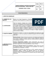 Ficha Pedagógica Modulo 2 ( Diplomado SYSO-OHSAS 180012007) 2010