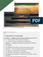 COMÉRCIO EXTERIOR - Prof. Roncalli Maranhão