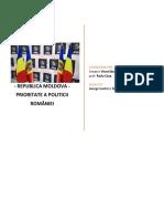 REPUBLICA MOLDOVA - Prioritate a Politicii externe a României