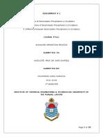 Assignment for ASP