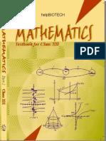 Maths 1 - Class XII