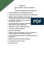 Cuestionario - La Contabilidad y Los Comerciales..