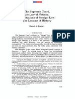 The Supreme Court - The Law of Nations and Citations of Foreign Law by Daniel Farber