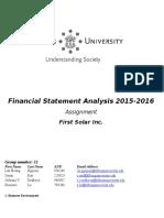 Financial Statement Analysis 2015 V2