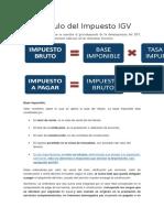 Calculo IGV , Credito Fiscal , Prorrota , Declaración y Pago IGV