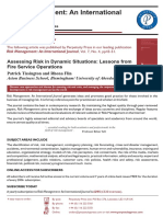 Assessing Risk in Dynamic Situations