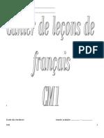 Lecons de Francais Cm1 Eleve