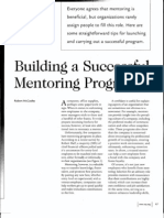 Building a Successful Mentoring Programme