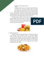Kliping Makanan Siap Saji Dan Makanan Cepat Saji