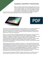 Tablets Android, Smartphones, SmartWear Y Smartwatches