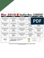 El Breakfast Menu May 10