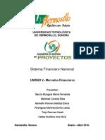 Unidad v. Mercados Financieros