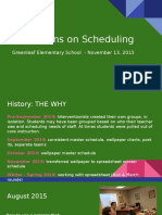 reflections on scheduling - gl sharing 11-13-15