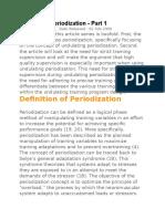 Pt Undulating Periodization