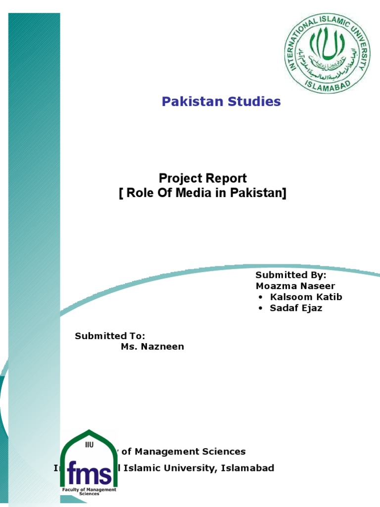 an essay on role of media in pakistan