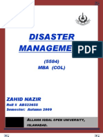 Semester III Assgn II Disaster Management