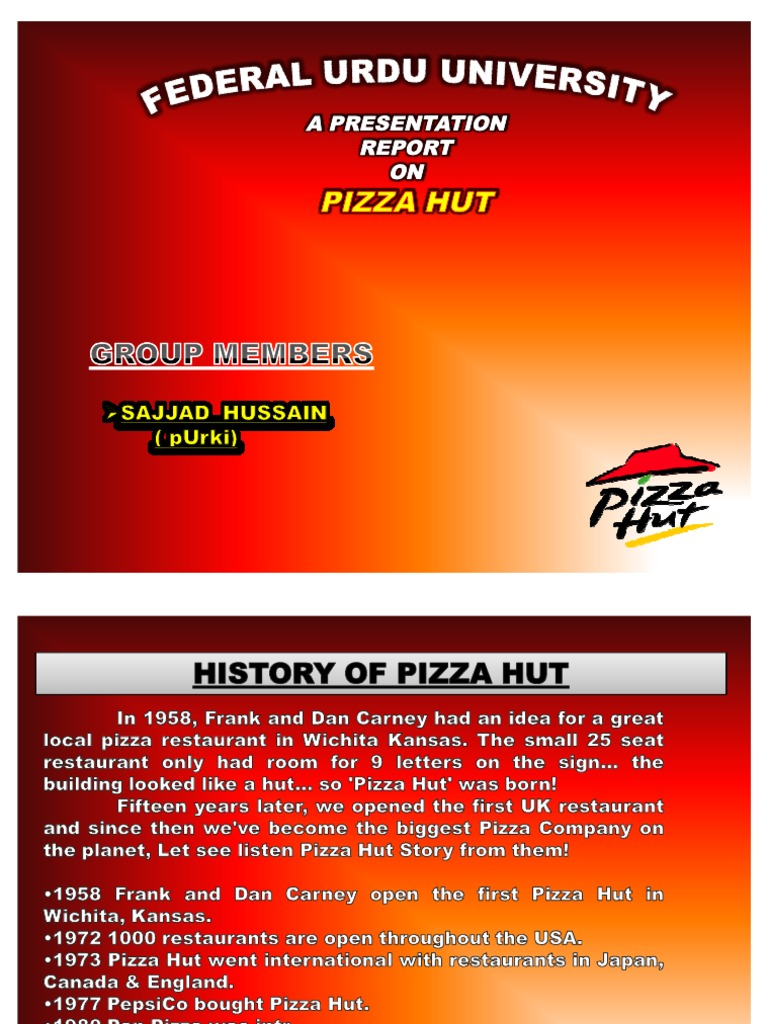 a swot analysis of pizza hut Pizza hut is an american restaurant chain and international franchise that offers  different types of pizza along with side dishes plus (depending on location):.