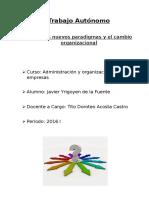 Los nuevos paradigmas y el cambio organizacional