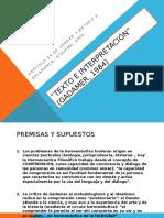Texto e Interpretación de Gadamer