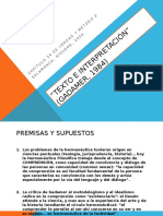 Sintesis de Texto e Interpretacion (Gadamer)