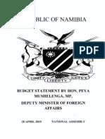 Budget statement-hon peya mushelenga