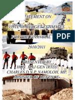 Motivation for the budget estimate-hon Charles Namoloh