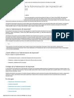 La Administración de Impresión en Windows Server 2008