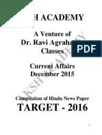 Current Affairs (December-2015)