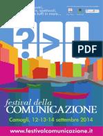 PROGRAMMA Festival Della Comunicazione 2014-12-09