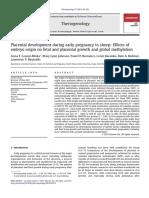 Desarrollo Placentario en La Gestacion Temprana de Ovejas