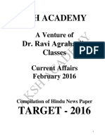Current Affairs (February-2016)