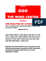 THE QUALITIES OF A CHILD OF GOD