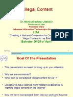 Bahrain Presentation. Illegal Content