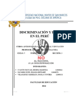 discriminación y racismo en el Perú