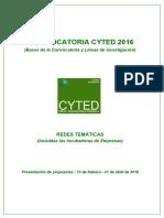 01. Convocatoria Oficial 2016 (Bases y Lineas)