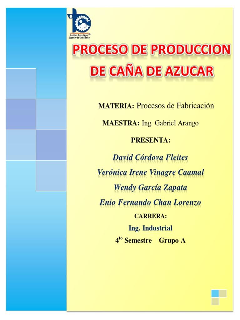 Circuito Productivo De La Caña De Azucar : Proceso de produccion de caña de azucar