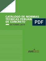 Catálogo de Normas de Técnicas Peruanas de Concreto 2014