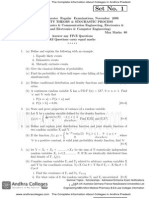Nov07 Probability Theory Stochastic Process