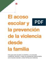 El acoso escolar y la prevención de la violencia