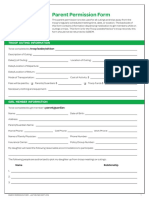 parent permission form