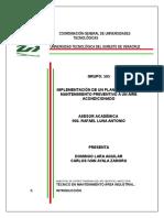 Integradora de Mantenimiento a un aire acondicionado (UTSV)