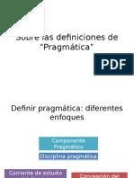 Sobre Las Definiciones de Pragmática