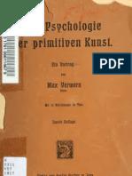 Max Verworn - Zur Psychologie Der Primitiven Kunst