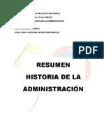 Resumen historia de la Administración