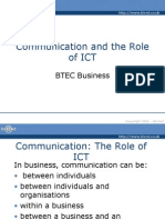 Communication and Role of Ict
