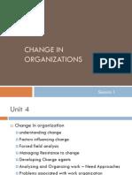 Change in Organization