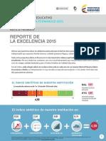 Colegio Agustin Fernandez-reporte de Excelencia 2015