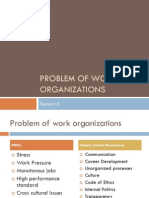 Problems of Work Organization