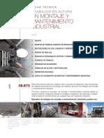 CEC Ficha Técnica Trabajos en Altura en Montaje y Mantenimiento Industrial