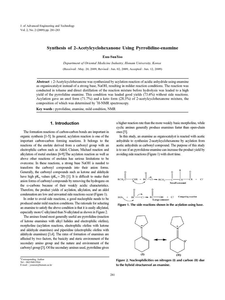 2 acetylcyclohexanone nmr
